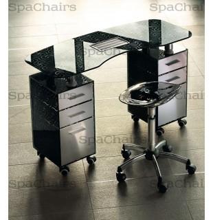 Стол маникюрный 2-ной с вытяжкой 188LХ/F2 С